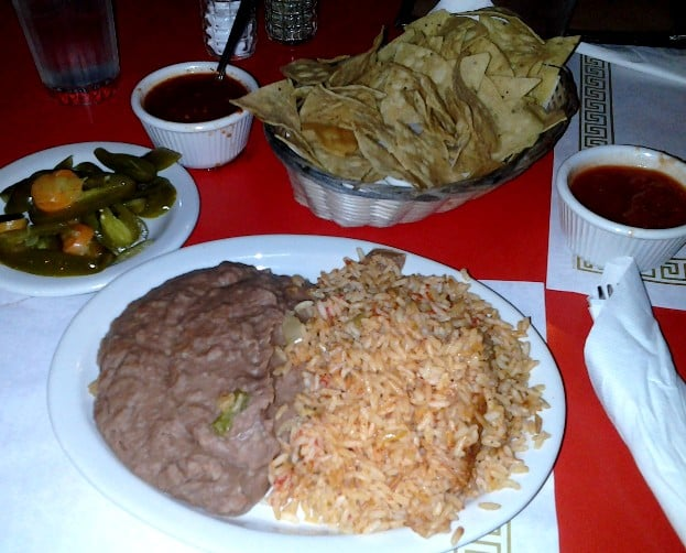 Xochilmilco's rice and beans